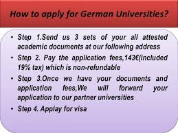 Admission in germany university by the help of german uni applicatio    SlideShare