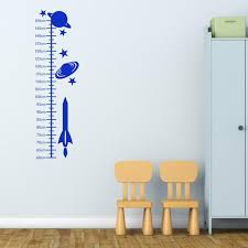 Space Growth Chart For Children Wall Sticker Height Chart Wall Decal Space Wall Art Boys Wall Transfers Gc007