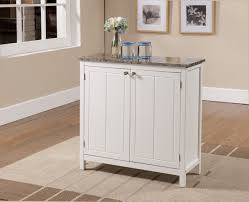 Kitchen Island With Storage Amazoncom Kings Brand White With Marble Finish Top Kitchen