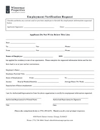 Request Employment Verification Letter 12 Printable Employment Verification Request Letter Forms
