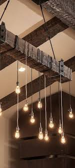 Image of: Rustic Lighting Fixtures Living