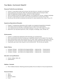 Profile Statement For Resume Newest Representation Good Personal
