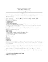 Property Management Resume Samples Letter Resume Directory