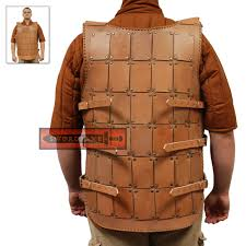 meval genuine studded leather armor vest sleeveless in cuirass chest shirt