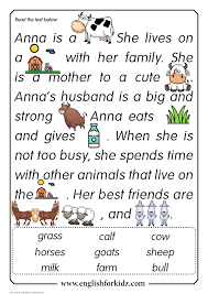 A collection of english esl worksheets for home learning, online practice, distance learning and english classes to teach about reading, reading. Reading Comprehension Kit Animal Passages Grades 1 3 Reading Comprehension Passages Phonics Reading Passages Kindergarten Reading Worksheets