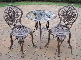 bistro set with 24 inch tempered glass top table quick view