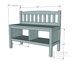 foyer storage furniture. ana white build a cottage bench with storage cubbies free and easy diy project foyer furniture