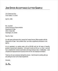 Job Offer Thank You Letter 73 Thank You Letter Examples Doc Pdf Examples