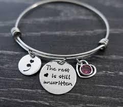 "Adjustable bracelet ""The rest is still unwritten"" Suicide <b>Awareness</b> ..."