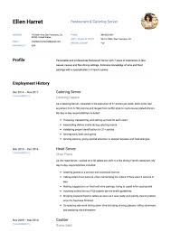resume for restaurant 11 restaurant server resume samples resumeviking com