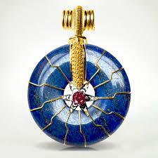 14kgold frederick shute david sereda pendant flower of