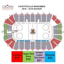 Crown Center Of Cumberland County Seating Chart Fayetteville Marksmen Vs Knoxville Ice Bears Crown Complex