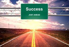 Free Stock Photo of Success Just Ahead road sign - Life success concept    Download Free Images and Free Illustrations