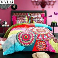 queen king comforter sets bohemian comforter set queen king size organic cotton bohemian style colourful comforter
