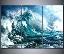 ocean wall art 3 panel canvas blue sea waves painting the picture for room posters prints beach themed paintings australia ocea