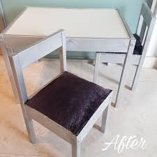 not ing diy black velvet children s chair with silver legs furniture tables chairs on carou