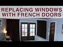 how to replace windows with french doors diy network