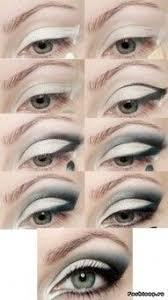 dramatic black and white eye makeup smokey eye makeup white eye makeup smoky eye