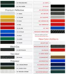 Pinstripe Color Charts