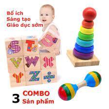 COMBO01 - Combo 3 MÓN ĐỒ CHƠI TRẺ EM thông minh bằng gỗ tự nhiên cao c –  kidsmile