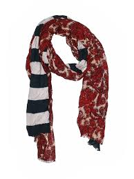 Details About Ann Taylor Loft Women Red Scarf One Size