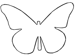 Drawn Butterfly Outline 3 Crafts Butterfly Template Butterfly