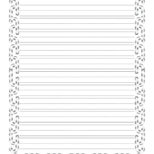 Free Writing Paper Christmas Writing Paper With Decorative Borders