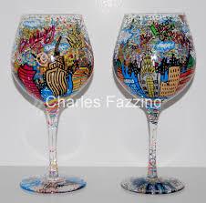 fazzino hand painted glasswear nyc winegl