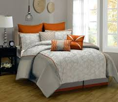 extremely ideas orange and grey comforter silver bedding set king size queen quilt doona duvet cover designer double bed sheet bedspread bedsheet linen