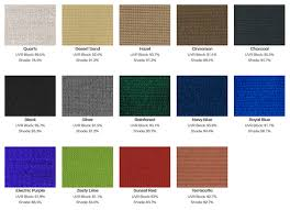 Shade Sail Colour Chart Serious About Shade Shade Cloth Colours
