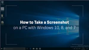 Screenshot On Pc Windows 10 Taking A Screenshot On A Pc With Windows 10 8 And 7