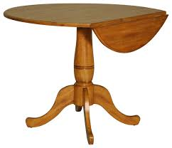 eci furniture four seasons 40 round drop leaf table rustic oak