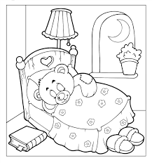 Small Picture free teddy bear sleep coloring pages Gianfredanet