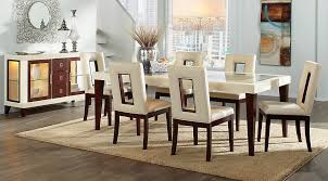 7 rooms to go dining room sets sofia vergara savona ivory 5 pc rectangle dining room