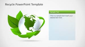 Eco Friendly Powerpoint Template With Recycle Icons