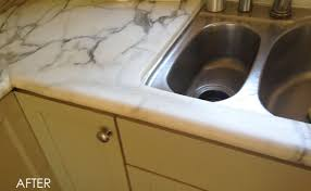 repaired marble countertop