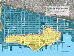 new hoboken flood map with water levels post hurricane sandy