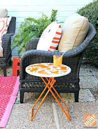 diy patio coffee table patio decor ideas wicker patio chair with stenciled side table diy metal