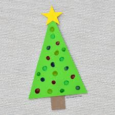 This Christmas tree craft is an easy low prep craft that kids can do  independently and