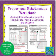 proportional relationships worksheets