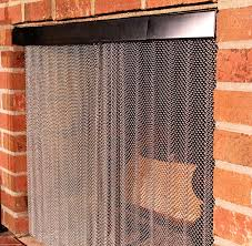 com enhance the style of your fireplace with a mesh screen by condar stainless steel fireplace mesh screen curtain 23 high