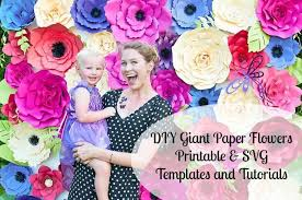 Giant Paper Flower Svg Giant Paper Flower Templates Tutorials Printable Flower Templates