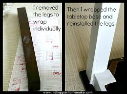 decorating furniture with paper. Temporary Furniture Makeover With Contact Paper Decorating