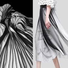 Stripe Designer Fabric 50cm 150cm Piece Pleated Designer Fabric Double Color Black