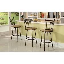linon home decor adjustable height brown swivel cushioned bar