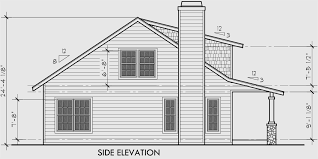 house front drawing elevation view for 10122 bungalow house plans large porch house plans