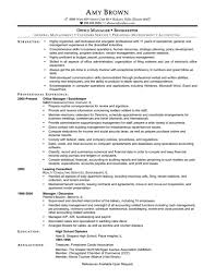 Office Manager Duties For Resume Security Resume Example