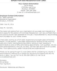 Samples Of Cover Letter Custom Entry Level Receptionist Cover Letter Robot48co