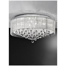 spirit fl2160 8 flush ceiling light finished in polished chrome