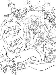 Small Picture Coloring Pages Kids Ariel And Flounder Coloring Page Little